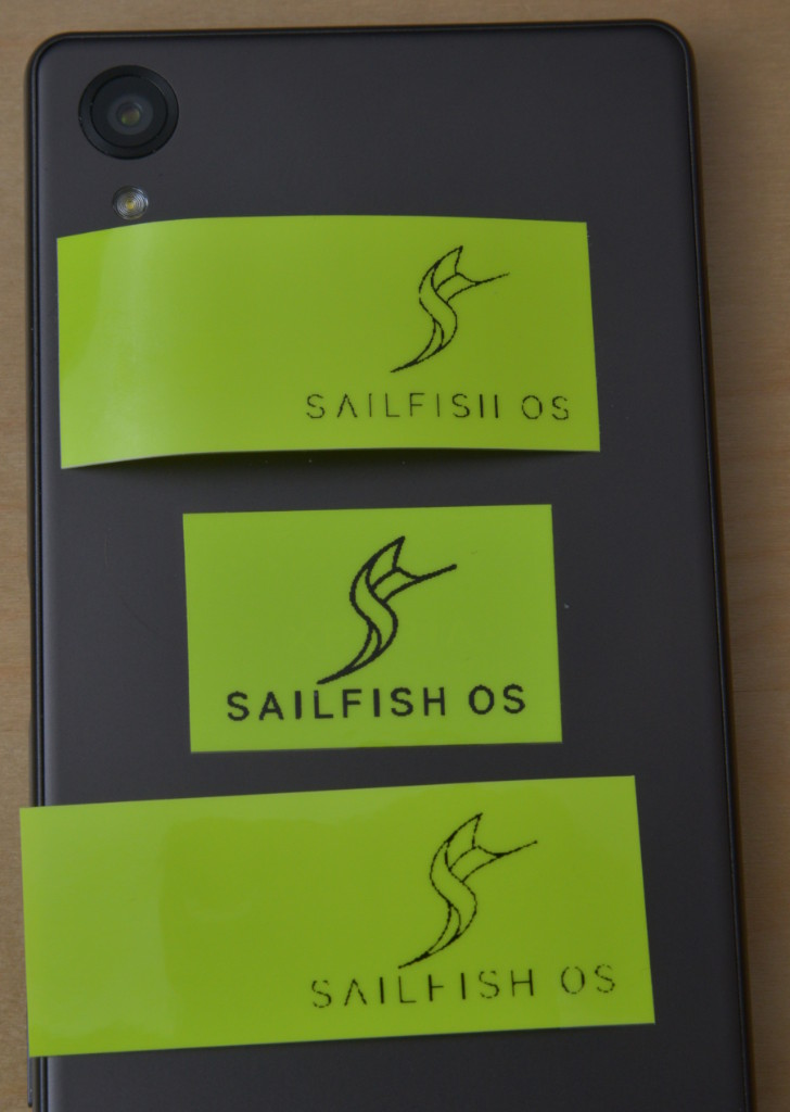 Sailfish OS Logo on Brother P-touch