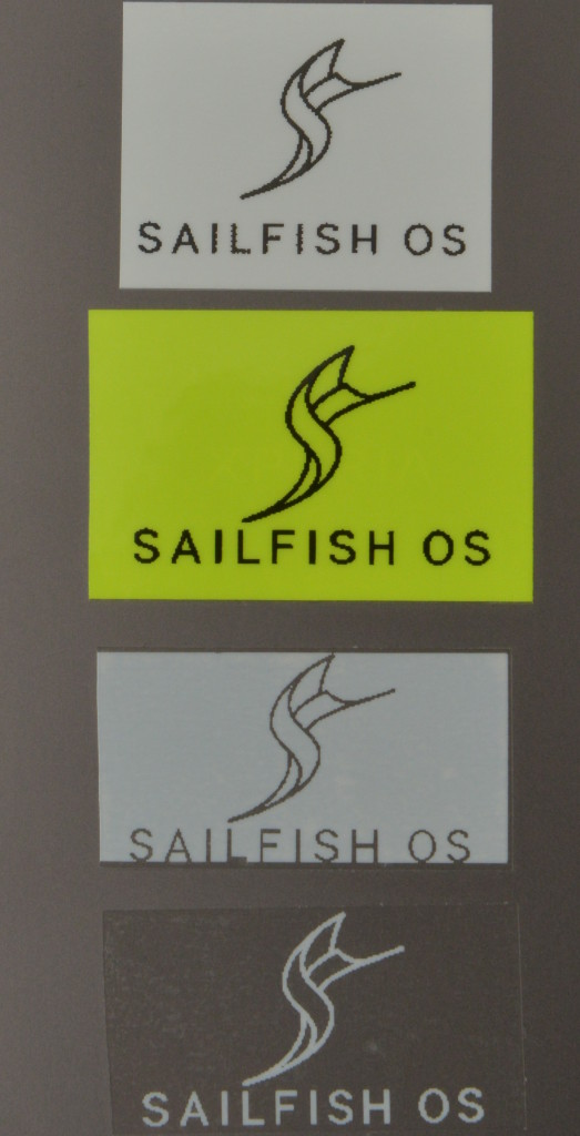 Sailfish OS Logo on Brother P-touch 2nd attempt